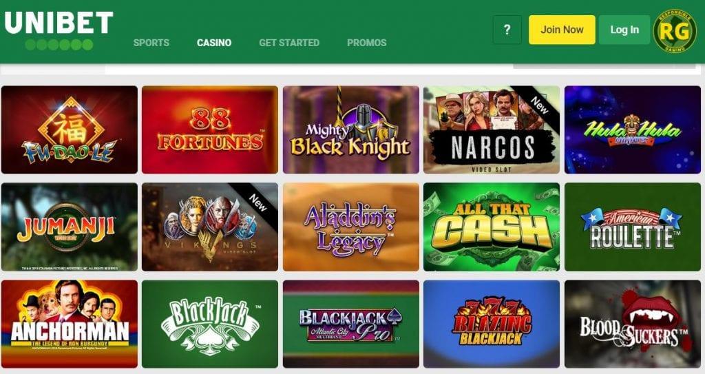 Unibet Bonus casino