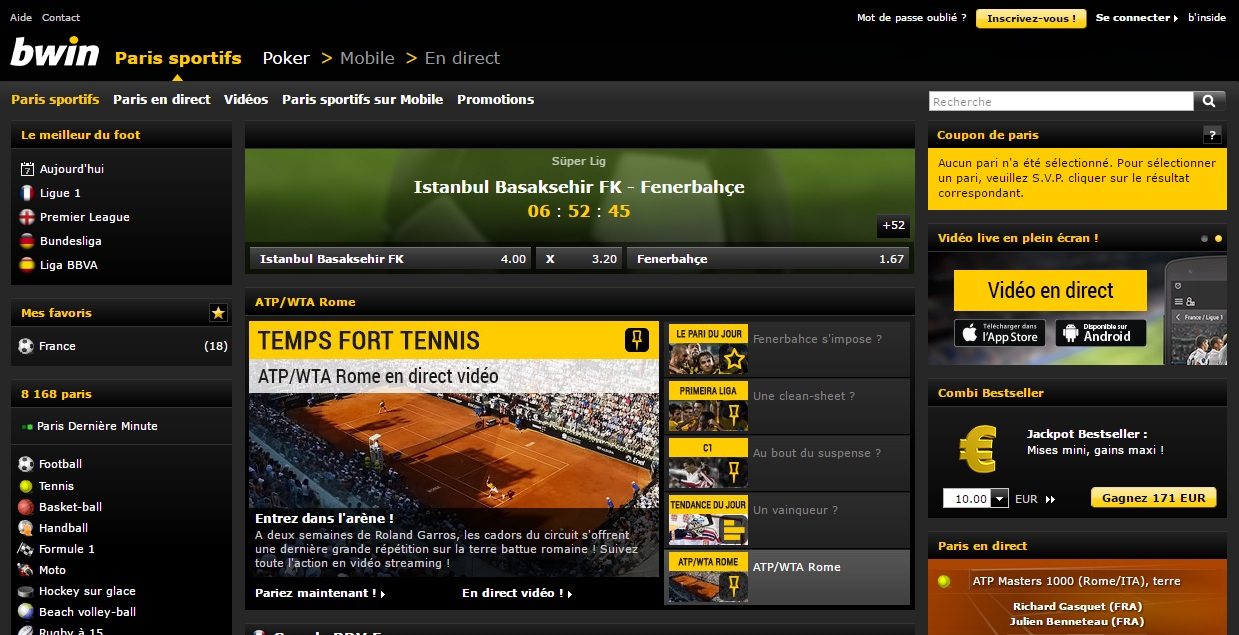 Bwin bookmaker