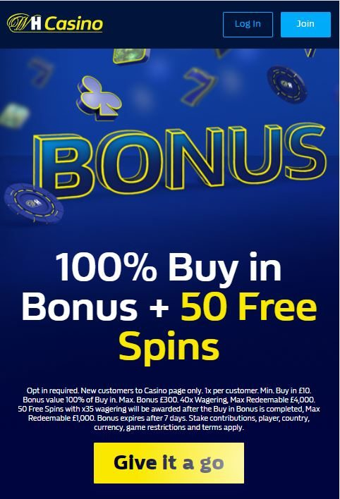 William Hill app bonus